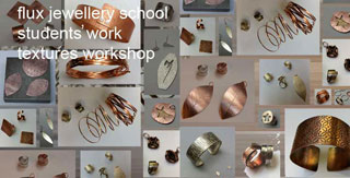 Flux Studios. Learn to make and design silver jewellery. Examples of work by students. Read course reviews and temake rings, pendants, bangles, earrings brooches, chainsstimonials here.